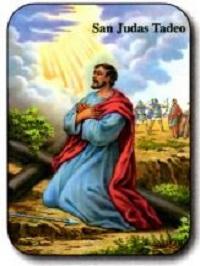 Estampa San Judas Tadeo Rayos