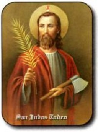 Estampa San Judas Tadeo Hacha