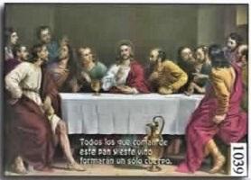 Estampa Santa Cena