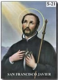 estampa san francisco javier misionero