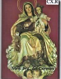 virgen del Carmen con ángeles